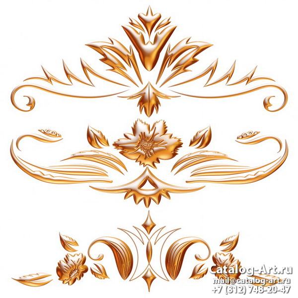 3D Gold decors 20